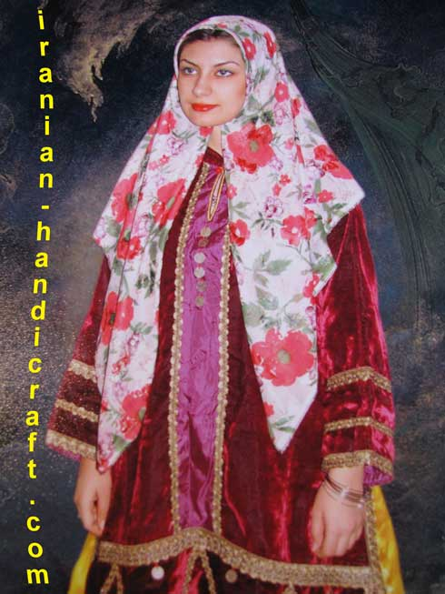 نقاشی لباس محلی اصفهان